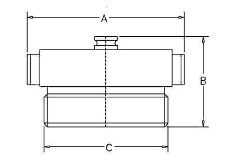 HF41B CAST 2.5 - Dimensions