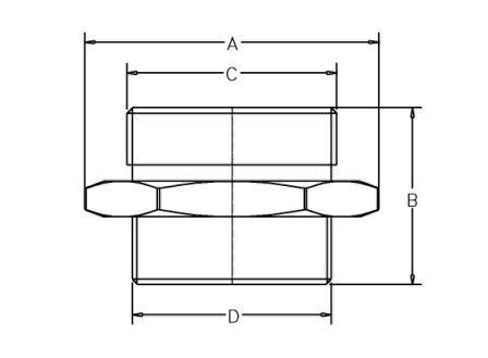 HF55 CP HOSExHOSE - Dimensions