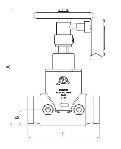 IE2600-25-SG - Dimensions