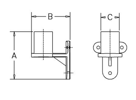 SWING RACK WALL BRACKET - Dimensions