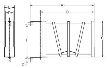 Hump Rack - Dimensions